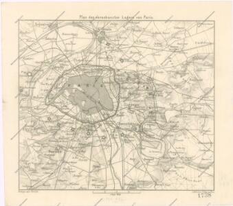 Plan des verschanzten Lagers von Paris