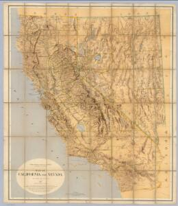 Map Of California And Nevada.