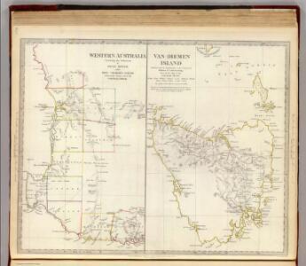W. Australia, Tasmania.