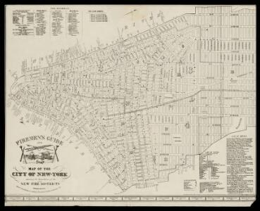 Firemen's guide and map of the city of New-York shewing the boundaries of the proposed new fire districts / enlered according to Act of Congress in the year 1840 by George Hayward