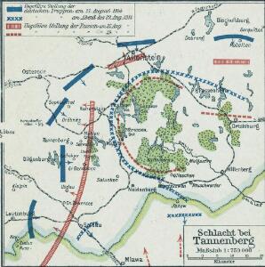 Östlicher Kriegsschauplatz II: Schlacht bei Tannenberg