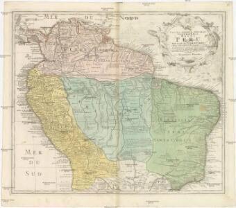 TABULA AMERICAE SPECIALIS GEOGRAPHICA REGNI PERU, BRASILIAE, TERRAE FIRMAE, & reg. AMAZONUM
