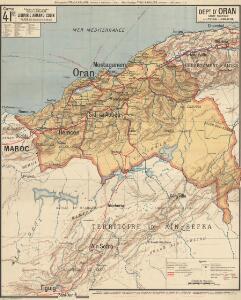 Dépt D' Oran carte politique