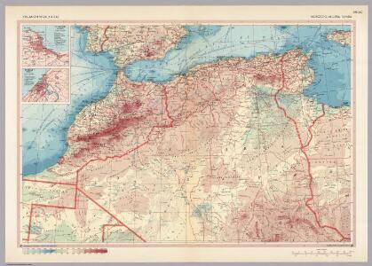 Morocco, Algeria, Tunisia.  Pergamon World Atlas.