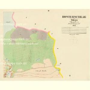 Hosterschlag - c1041-1-002 - Kaiserpflichtexemplar der Landkarten des stabilen Katasters