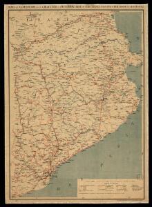 Mapa de carreteras para ciclistas y automoviles: Barcelona, Gerona y Pirineos / por E. Brossa