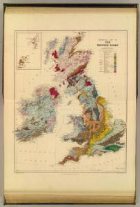 Geological map, British Isles.