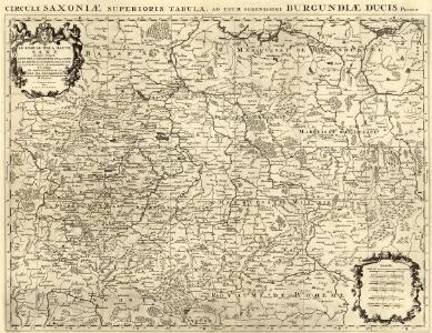 Circuli Saxoniae Superioris Tabula ad usum serenissimi Burgundiae Ducis Parissis