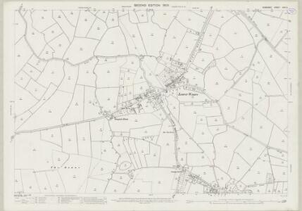 Somerset XXVI.3 (includes: Badgworth; Cheddar; Compton Bishop; Weare) - 25 Inch Map