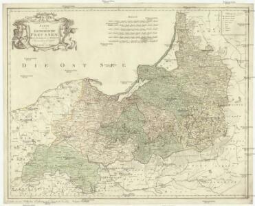 Karte von dem Koenigreiche Preussen