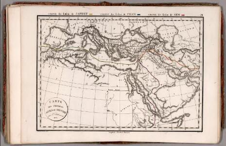 Carte de Premiers Ages de Monde ... 1825.