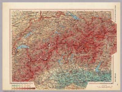Switzerland.  Pergamon World Atlas.