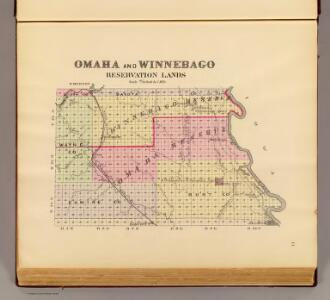 Omaha, Winnebago reservation lands.