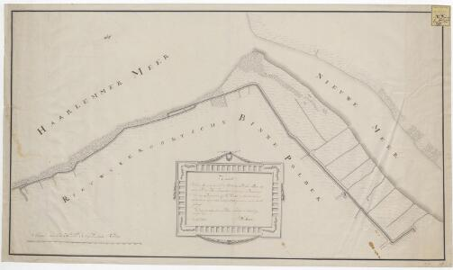 Kaart van de meer-oevers om de Rietwyker-oordsche Polder