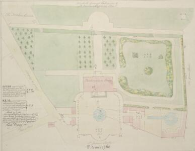 Drawn plan of the freehold ground belonging to Sir Charles Sheffield