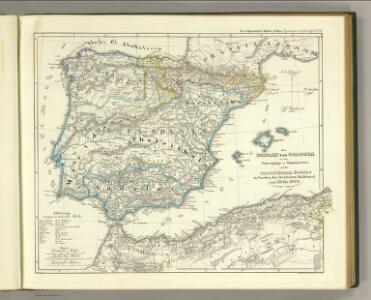 Emirat von Cordoba bis zum Untergange der Ommijaden; christlichen Reiche im Norden der iberischen Halbinsel 711 bis 1028.