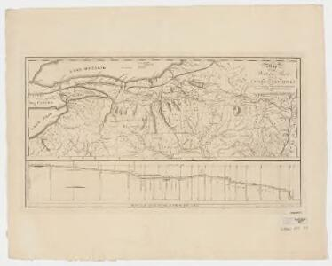 Map of the western part of the state of New York : shewing the route of a proposed canal from Lake Erie to Hudson's river