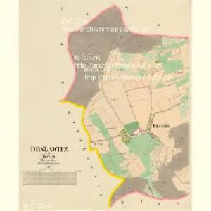 Drslawitz - c1542-1-001 - Kaiserpflichtexemplar der Landkarten des stabilen Katasters