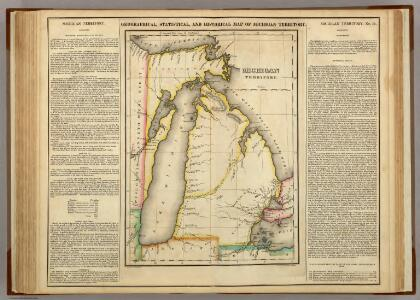 Map Of Michigan Territory.