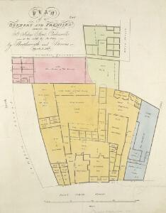 PLAN of a BREWERY AND PREMISES situate in St. John's Street, Clerkenwell - to be sold by Action- by Shuttleworth and Stevens March 5, 1818