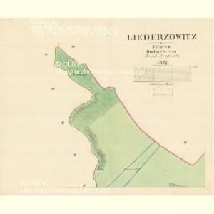 Liederzowitz - m1550-1-001 - Kaiserpflichtexemplar der Landkarten des stabilen Katasters