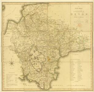 A new map of the County of Devon