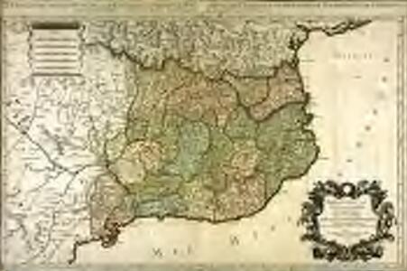 Principauté de Catalogne ou sont compris les comtés de Roussillon et de Cerdagne