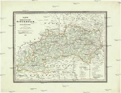 Karte des Erzherzogthumes Österreich mit Salzburg