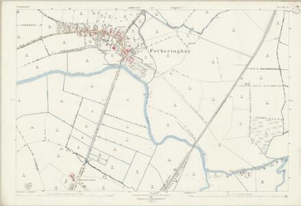 Northamptonshire XIII.10 (includes: Fotheringhay; Tansor; Warmington) - 25 Inch Map