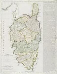 Carte de l'isle de Corse