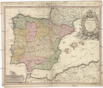 REGNORUM HISPANIAE et PORTUGALLIAE Tabula generalis