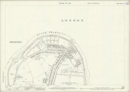Surrey II.10 (includes: Barnes; Fulham; Hammersmith) - 25 Inch Map