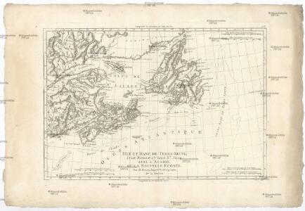 Isle et banc de Terre-Neuve, Isle Royale et Isle St. Jean, avec l'Acadie ou la Nouvelle Ecosse