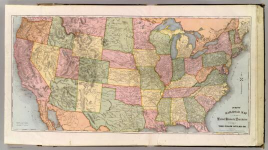 New Railroad Map of the United States & Territories.