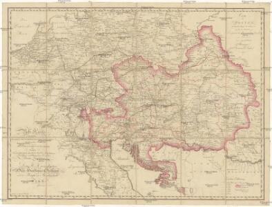 Post Karte saem[m]tlicher k. auch k.k. oesterreichischen Staaten mit dem grösten Theile von Deutschland, Holland, Frankreich und Italien