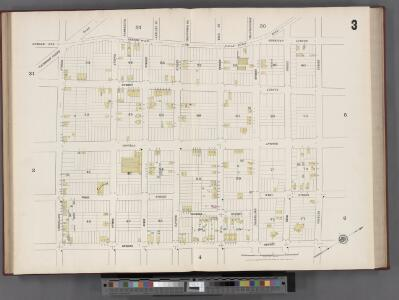 Hudson County, V. 8, Double Page Plate No. 3 [Map bounded by Kerrigan Ave., Charles St., Courtland St., Bergen Wood] / surveyed and published by Chas. B. Brush. Vol. 8.