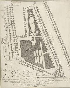 Plan of Duck Island in St. James's Park of which M. St. Evremond was appointed Governor by Charles 2d.