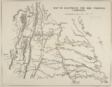 Map to illustrate the 1862 (Virginia) Campaign