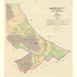 Nieder Kamnitz - c1307-1-004 - Kaiserpflichtexemplar der Landkarten des stabilen Katasters