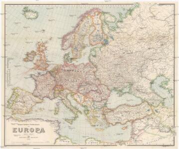 Eduard Gaeblers Verkehrskarte von Europa