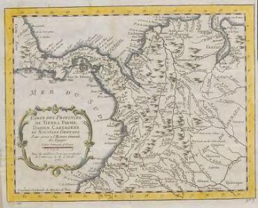 Carte des Provinces de Tierra Firme, Darien,Carthagene et Nouvelle Grenade