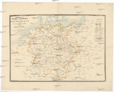 Telegrafenlinien, Eisenbahnen und Dampfbootfahrten in Deutschland und den Nachbarstaaten