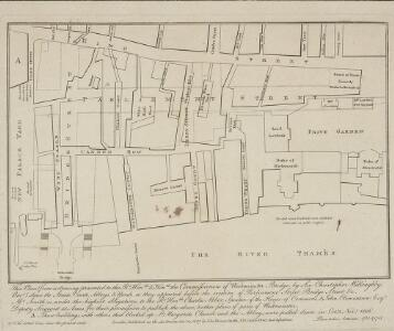 A Plan of St Margarets Parish Westminster showing the improvements of Parliament Street & Bridge Street