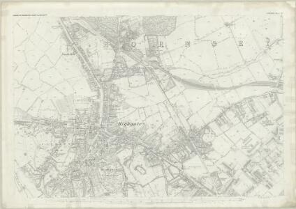 London (First Editions c1850s) III (includes: Hornsey St Mary; Islington; St Pancras) - 25 Inch Map