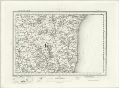 Saxmundham (Outline) - OS One-Inch Revised New Series