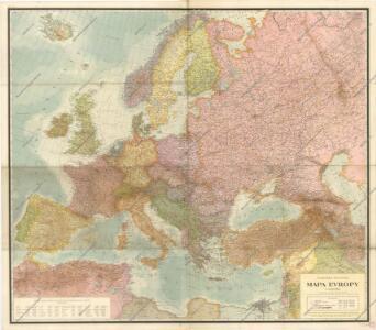 Podrobná politická mapa Evropy