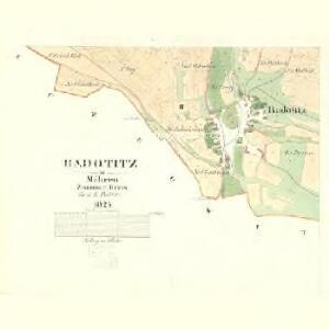Radotitz - m2528-1-002 - Kaiserpflichtexemplar der Landkarten des stabilen Katasters