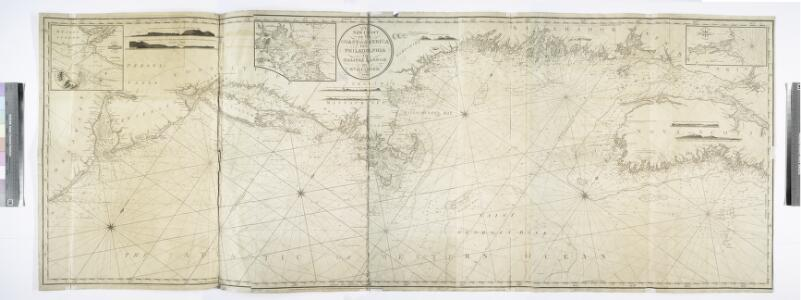 A new chart of the coast of America from Philadelphia to Halifax Harbor / by Wm. Heather, 1809; Stephenson, engraver.