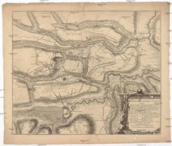 Plan de la bataille d'Oudenaerde du jj juillet 1708