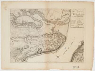 Plan of the city and environs of Quebec: with its siege and blockade by the Americans from the 8th of December 1775 to the 13th of May 1776